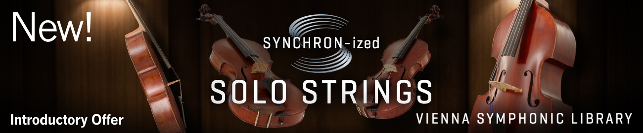 Banner VSL SYNCHRON-ized Solo Strings Introductory Offer