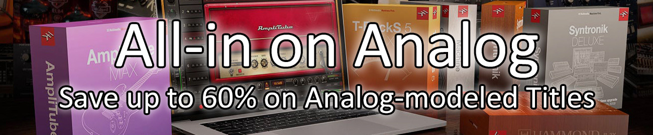 Banner IK Multimedia - All-in on Analog - Up to 60% OFF