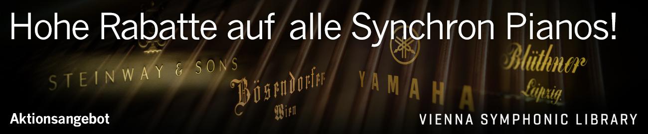 Banner VSL: Hohe Rabatte auf alle Synchron Pianos!
