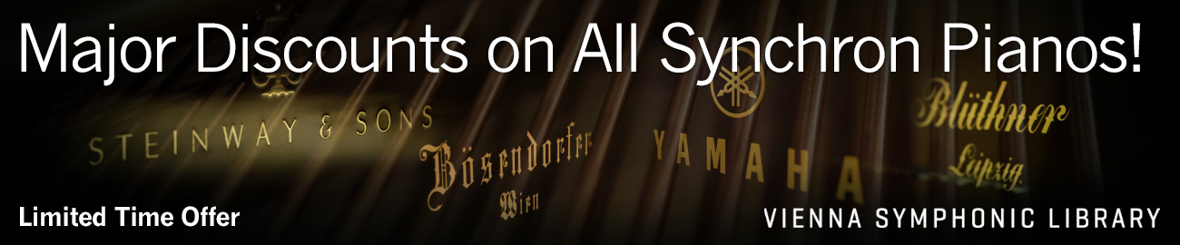 Banner VSL Major Discounts on All Synchron Pianos!