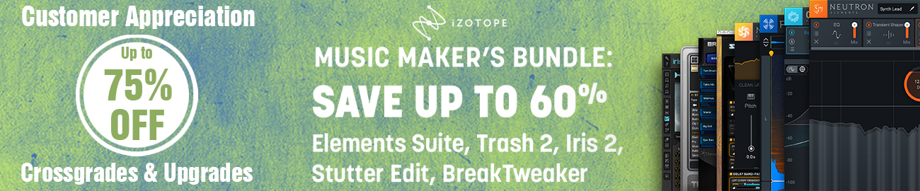 Banner iZotope May Offers