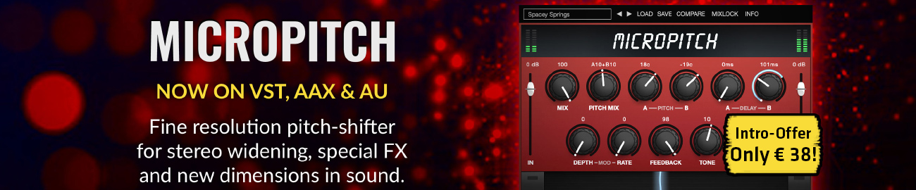 Banner Eventide MicroPitch - Introductory Offer