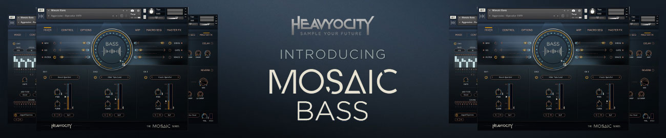 Banner Heavyocity Mosaic Bass Intro Offer