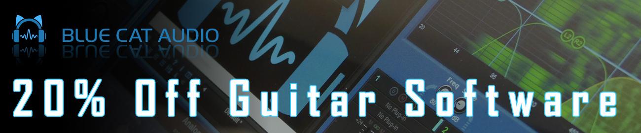 Banner Blue Cat Audio - 20% OFF Guitar Software
