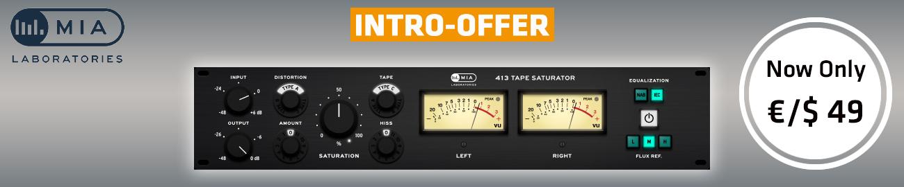 Banner MIA Laboratories - 413 Tape Saturator Intro Offer