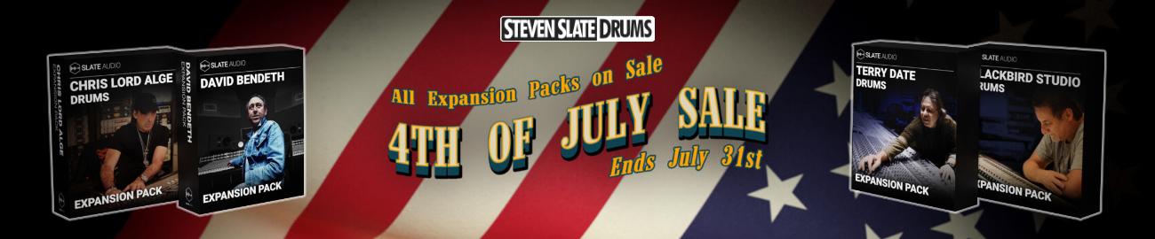 Banner Steven Slate Drums Expansion Packs Sale