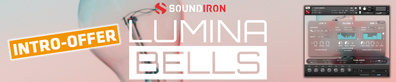 Banner Soundiron - Luminabells Intro Offer