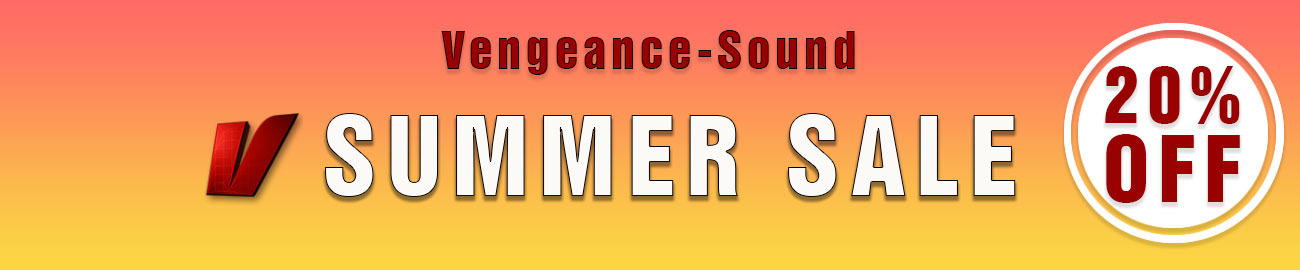 Banner Vengeance Sound Summer Sale - 20% OFF