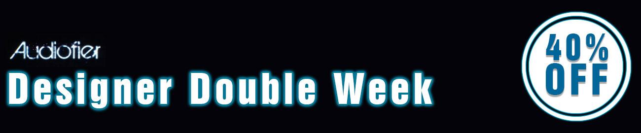 Banner Audiofier Designer Double Week 40% Off
