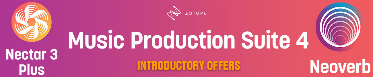 Banner iZotope Launch Offers