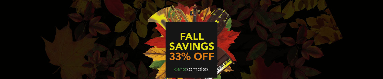 Banner Cinesamples: Fall Savings 33% OFF