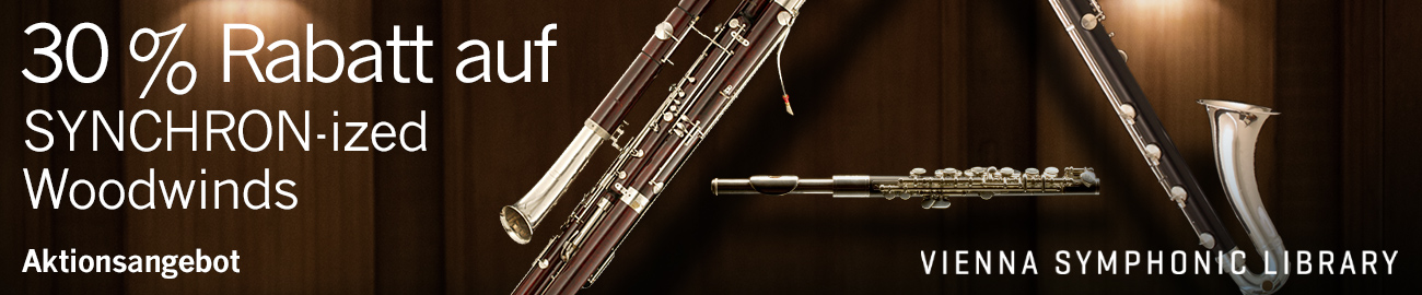 Banner VSL: 30% Off SYNCRHON-ized Woodwinds