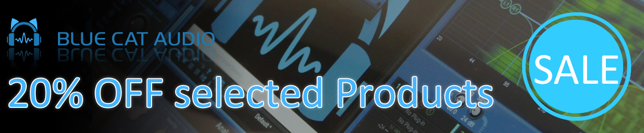 Banner Blue Cat Audio - 20% OFF selected Products!
