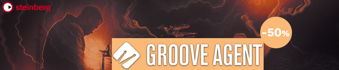 Banner Steinberg - 50% OFF Groove Agent 5