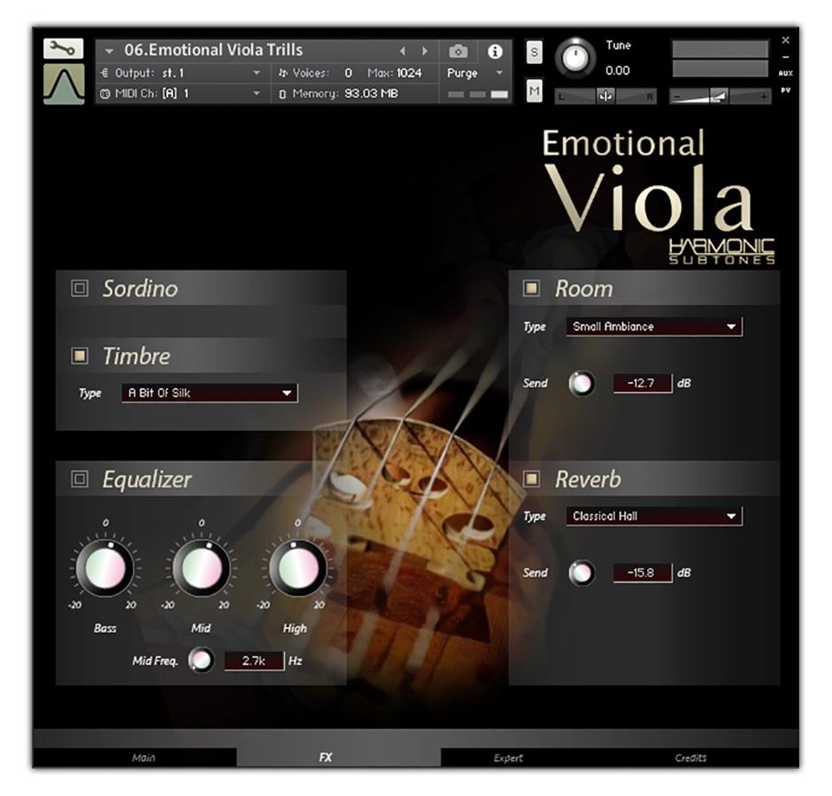 Viola FX GUI