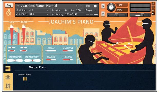 Joachims Piano Main GUI