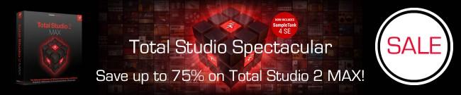 Banner IK Multimedia: Up to 75% OFF Total Studio 2 MAX