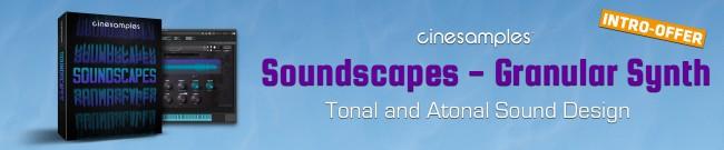 Banner Cinesamples: Soundscapes Intro Offer
