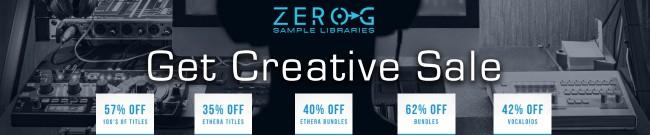 Banner Zero-G Get Creative Sale
