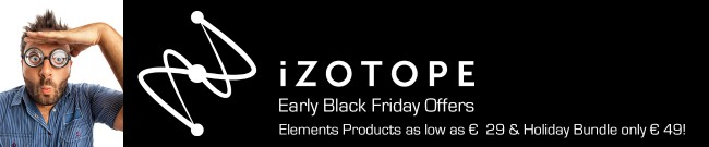 Banner iZotope Early Black Friday Offers