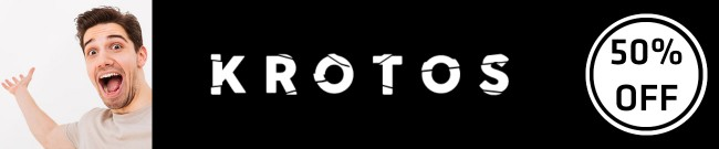 Banner Krotos - 50% OFF All Products