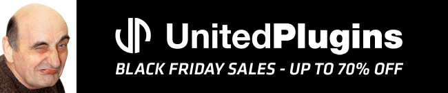 Banner UnitedPlugins - Black Friday Sales - Up to 70% OFF