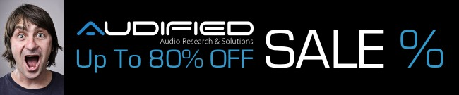 Banner Audified Sale - Up to 80% OFF