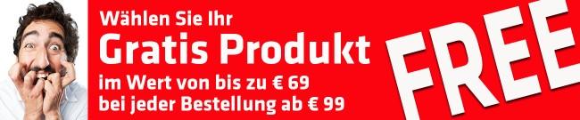 Banner Gratis Produkt mit jeder Bestellung