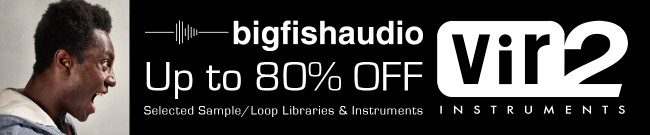 Banner Big Fish Audio - Black Friday Sale - Up to 80% OFF