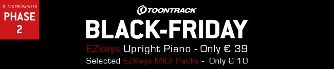 Banner Toontrack Black Friday Week - Deal Two