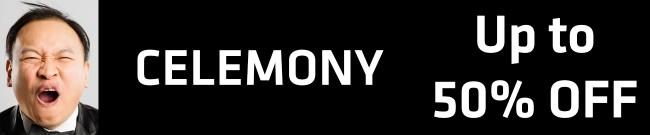 Banner Celemony - Up to 50% OFF