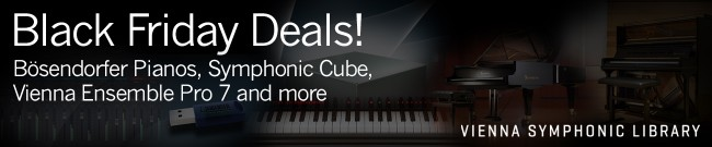 Banner Vienna Symphonic Library - Black Friday Deals