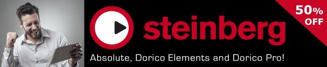 Banner Steinberg Black Deals - 50% OFF