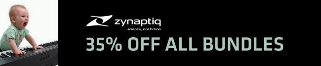 Banner Zynaptiq - 35% OFF all bundles