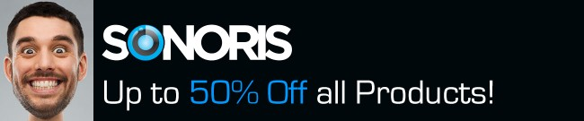 Banner Sonoris Cyber Sale - Up to 50% OFF