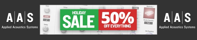 Banner AAS - Holiday Sale - 50% OFF