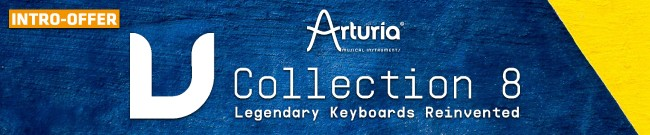 Banner Arturia - V-Collection 8 - Intro Offer