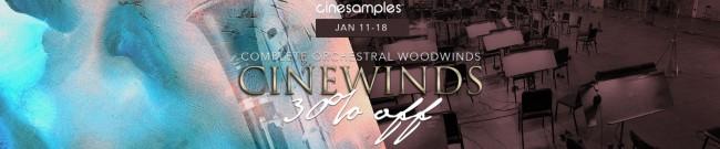 Banner Cinesamples - CineWinds Flash Sale - 30% Off