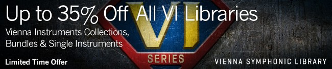 Banner VSL - Up to 35% Off All VI Series Libraries