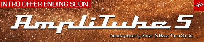 Banner IK Multimedia - AmpliTube 5 - Intro Offer