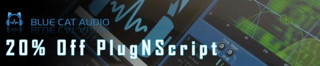 Banner Blue Cat Audio - 20% Off PlugNScript