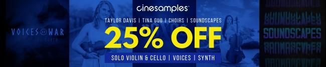 Banner Cinesamples - February Sale - 25% Off