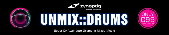 Banner Zynaptiq - Unmix Drums on Sale
