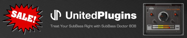 Banner UnitedPlugins - SubBass Doctor 808 - Sale