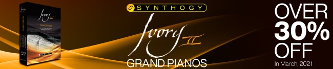 Banner Synthogy Ivory II Grand Pianos On Sale