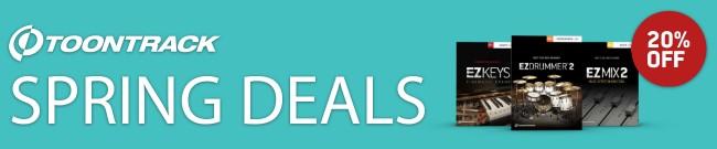 Banner Toontrack - Spring Deals - 20% Off