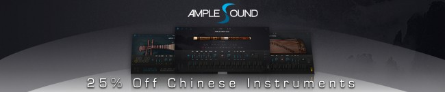 Banner Ample Sound - 25% Off Chinese Instruments
