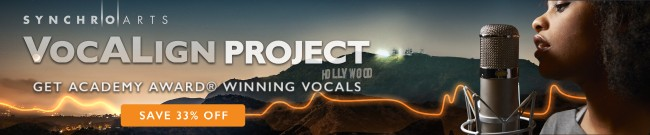 Banner Synchro Arts - 33% Off VocAlign Project