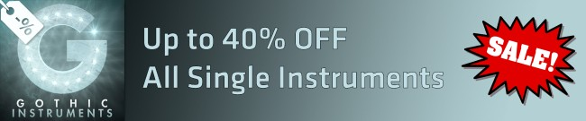Banner Gothic Instruments Sale - Up to 40% OFF