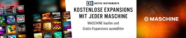 Banner Native Instruments - Free Expansions mit Maschine